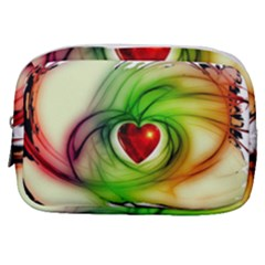 Heart Love Luck Abstract Make Up Pouch (small)