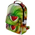 Heart Love Luck Abstract Flap Pocket Backpack (Small) View1