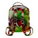 Heart Love Luck Abstract Flap Pocket Backpack (Small) View3