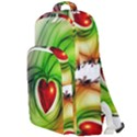 Heart Love Luck Abstract Double Compartment Backpack View1