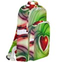Heart Love Luck Abstract Double Compartment Backpack View2