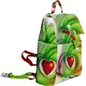 Heart Love Luck Abstract Buckle Everyday Backpack View2