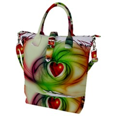 Heart Love Luck Abstract Buckle Top Tote Bag