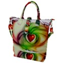 Heart Love Luck Abstract Buckle Top Tote Bag View1