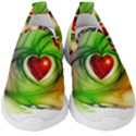 Heart Love Luck Abstract Kids  Slip On Sneakers View1