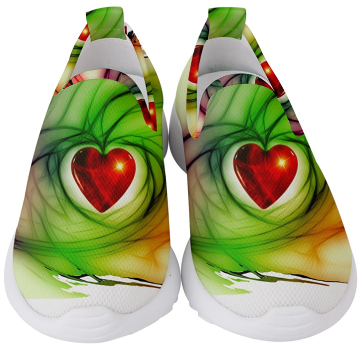 Heart Love Luck Abstract Kids  Slip On Sneakers