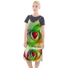 Heart Love Luck Abstract Camis Fishtail Dress