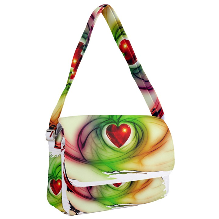 Heart Love Luck Abstract Courier Bag