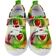 Heart Love Luck Abstract Kids  Velcro Strap Shoes by Pakrebo