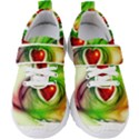 Heart Love Luck Abstract Kids  Velcro Strap Shoes View1