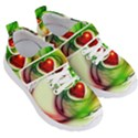 Heart Love Luck Abstract Kids  Velcro Strap Shoes View3