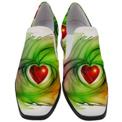 Heart Love Luck Abstract Slip On Heel Loafers by Pakrebo
