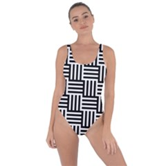 Black And White Basket Weave Bring Sexy Back Swimsuit