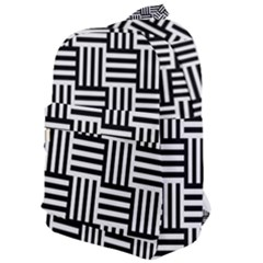 Black And White Basket Weave Classic Backpack