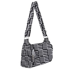 Black And White Basket Weave Post Office Delivery Bag