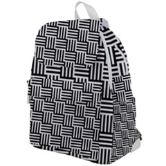 Black And White Basket Weave Top Flap Backpack