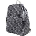 Black And White Basket Weave Top Flap Backpack View1