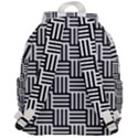 Black And White Basket Weave Top Flap Backpack View3