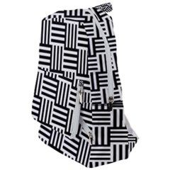 Black And White Basket Weave Travelers  Backpack