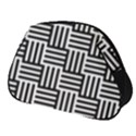 Black And White Basket Weave Full Print Accessory Pouch (Small) View1