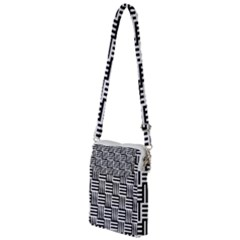 Black And White Basket Weave Multi Function Travel Bag