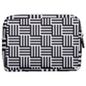 Black And White Basket Weave Make Up Pouch (Medium) View2