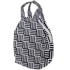 Black And White Basket Weave Travel Backpacks