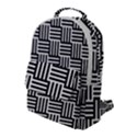 Black And White Basket Weave Flap Pocket Backpack (Large) View1