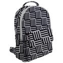 Black And White Basket Weave Flap Pocket Backpack (Large) View2