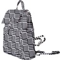 Black And White Basket Weave Buckle Everyday Backpack View1
