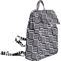 Black And White Basket Weave Buckle Everyday Backpack View2