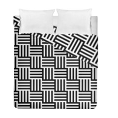 Black And White Basket Weave Duvet Cover Double Side (Full/ Double Size)