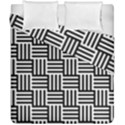Black And White Basket Weave Duvet Cover Double Side (California King Size) View1