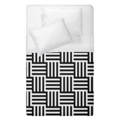 Black And White Basket Weave Duvet Cover (Single Size)