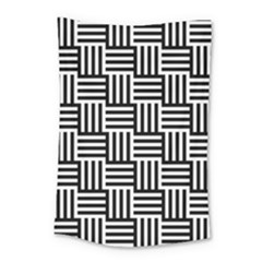 Black And White Basket Weave Small Tapestry