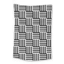 Black And White Basket Weave Small Tapestry View1
