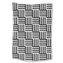 Black And White Basket Weave Large Tapestry View1