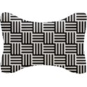 Black And White Basket Weave Seat Head Rest Cushion View1
