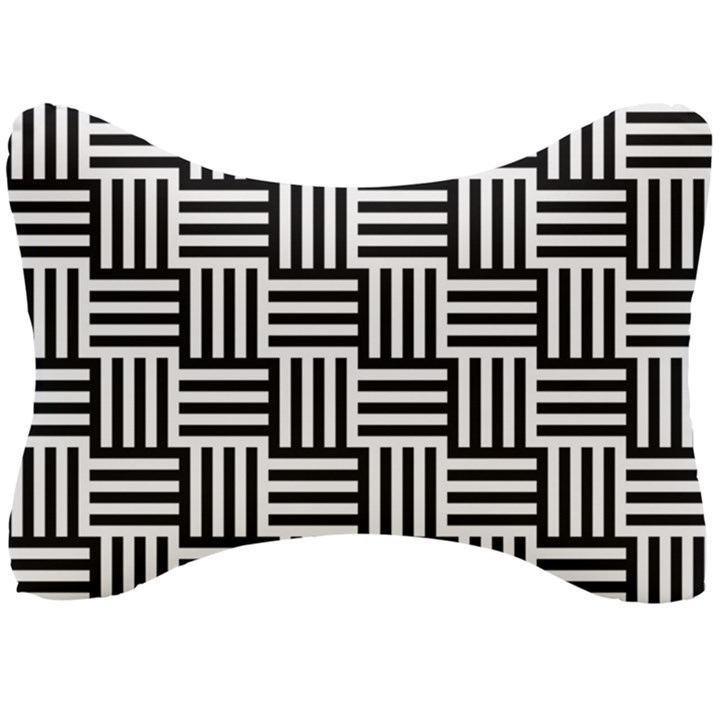 Black And White Basket Weave Seat Head Rest Cushion