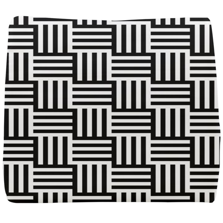 Black And White Basket Weave Seat Cushion