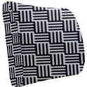 Black And White Basket Weave Seat Cushion View2