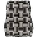 Black And White Basket Weave Car Seat Velour Cushion  View2