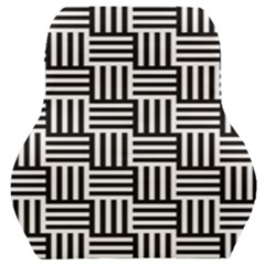 Black And White Basket Weave Car Seat Back Cushion