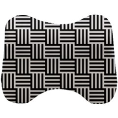 Black And White Basket Weave Head Support Cushion