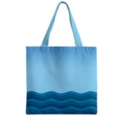 Making Waves Grocery Tote Bag by WensdaiAddamns