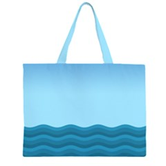 Making Waves Zipper Large Tote Bag by WensdaiAddamns