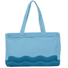 Making Waves Canvas Work Bag by WensdaiAmbrose