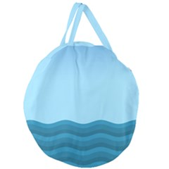 Making Waves Giant Round Zipper Tote