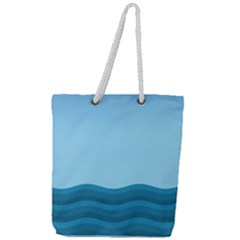 Making Waves Full Print Rope Handle Tote (large) by WensdaiAmbrose