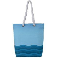 Making Waves Full Print Rope Handle Tote (small) by WensdaiAmbrose